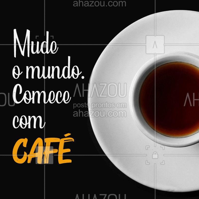 Não tem como ter um dia produtivo sem antes uma boa xícara de café para acordar, não é mesmo? #café #cafeteria #ahazoutaste