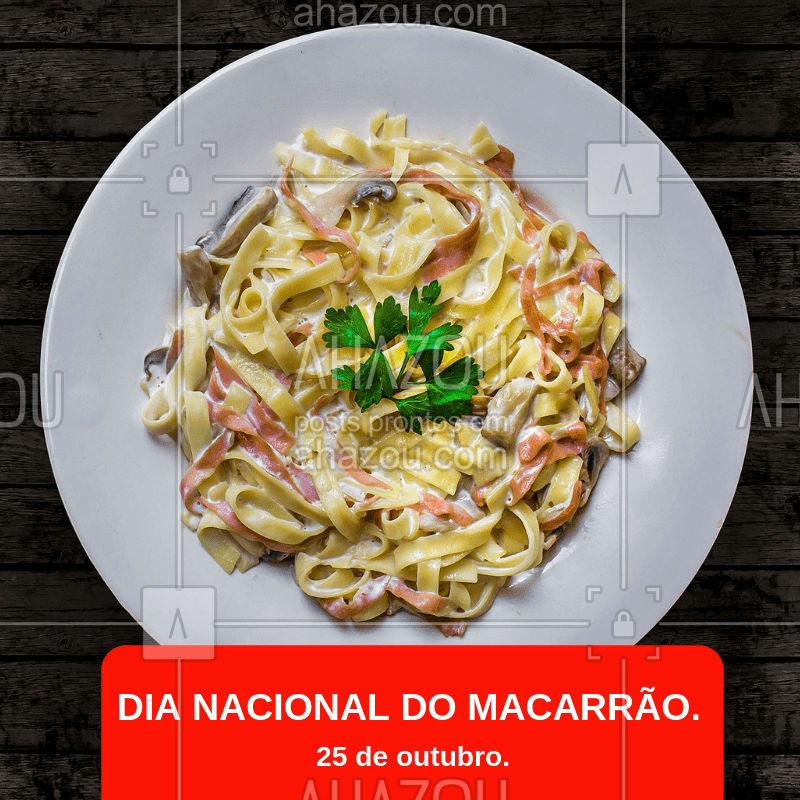 Qual o seu macarrão predileto? Conte pra gente! #gastronomia #macarrao #ahazou #diadomacarrao #massa #alimentacao