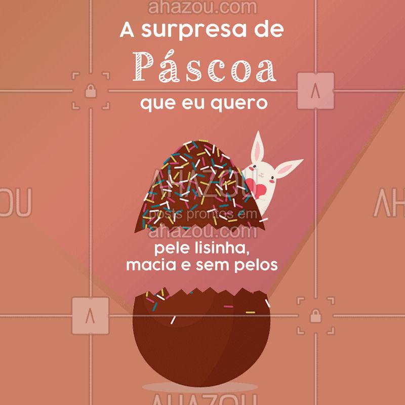 Essa seria a surpresa perfeita, não é  meninas?? ? #depilacao #pelelisinha #engracado #ahazou #pascoa