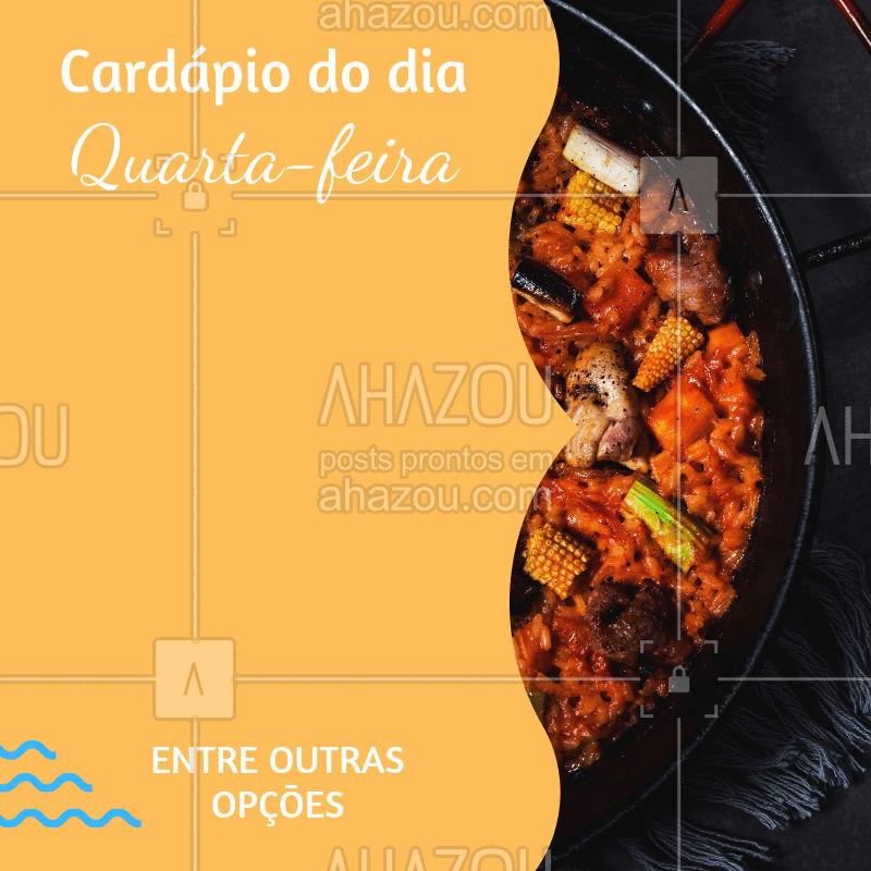 Conheça nosso cardápio do dia, e venha almoçar com a gente! #selfservice #ahazou #restaurante #food #almoco
