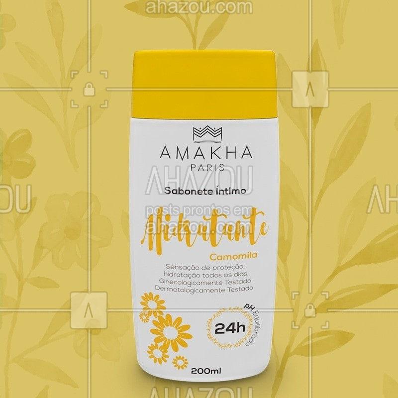 O Sabonete Íntimo da Amakha Paris foi pensado para proporcionar uma sensação agradável de conforto e limpeza, além de neutralizar possíveis odores e equilibrar o PH da região íntima. Esse produto foi ginecologicamente testado e pode ser utilizado por homens e mulheres⠀ Com a fragrância de Camomila você se sente mais protegido e hidratado todos os dias. #ahazourevenda #ahazouamakha