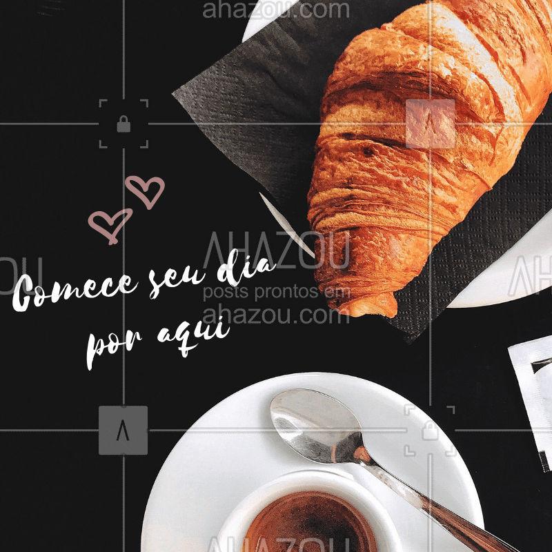 Estamos te esperando para o café de manhã! #cafedamanha #ahazou #manha #cafes