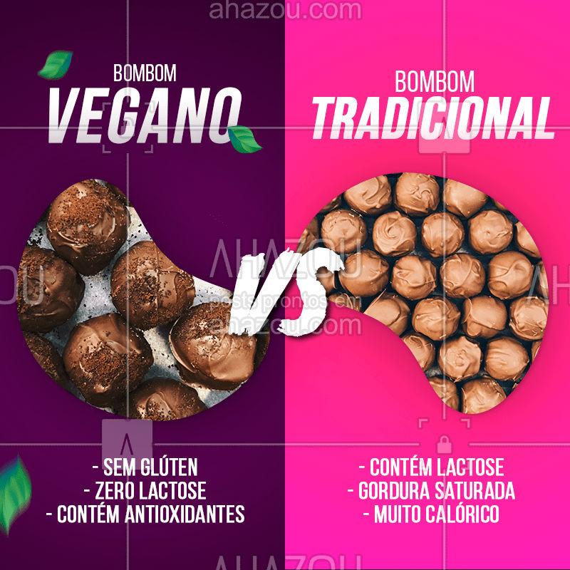 Alimentos veganos são sempre a opção mais saudável (além de deliciosos) ?  Que tal experimentar essa bombom?? #vegano #alimentaçãosaudavel #bombomvegana #pãodequeijo #ahazoutaste #bandbeauty