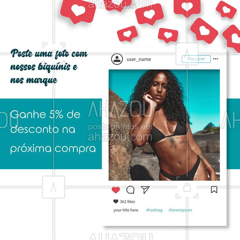 Promoção por tempo limitado, tire um foto e nós marque no insta e vem aproveitar o desconto ??  #biquíni #desconto #insta #ahazou #moda #praia #mar #piscina #verão #maiô