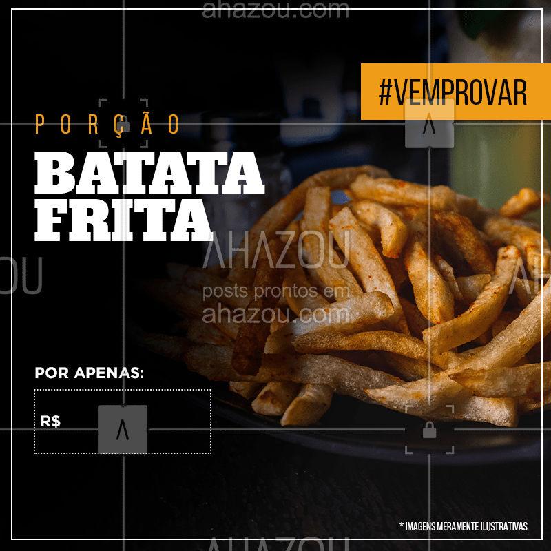 Venha se deliciar com a nossa clássica porção de batata frita ?  #fries #ahazou #bar #porções #vemprobar #batatafrita