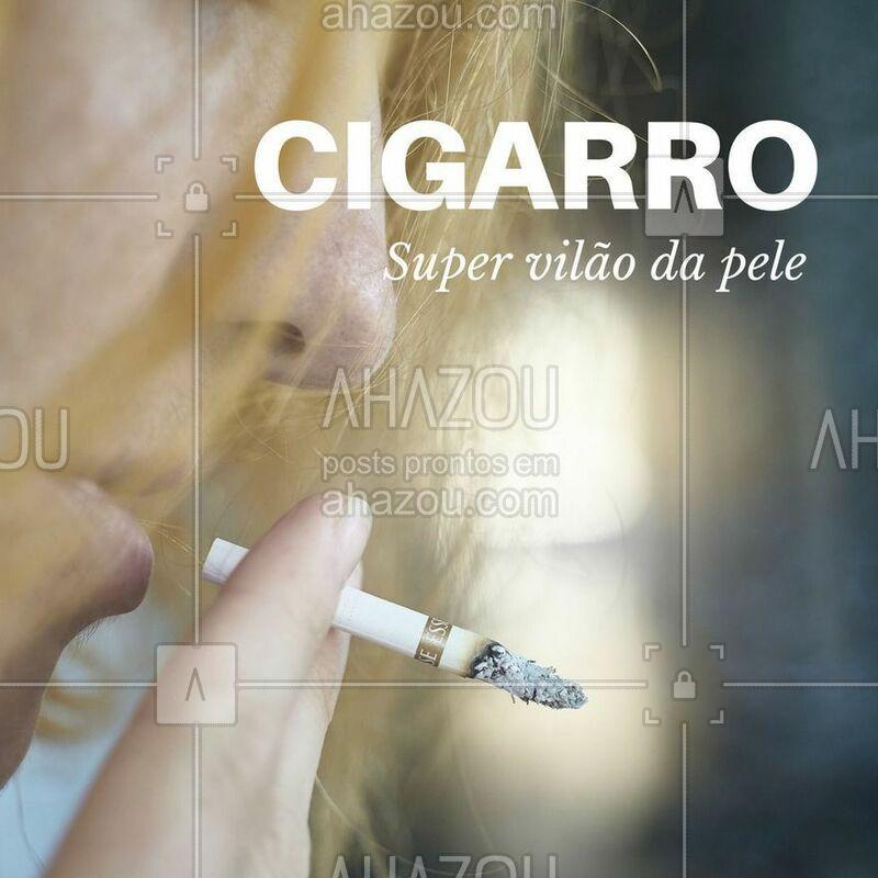 Que o cigarro faz mal para a saúde, todo mundo sabe. Mas e os malefícios pra pele? Além do envelhecimento precoce, fumar pode também causar rugas, manchas, opacidade e até alterações de cor. O rosto do fumante costuma ficar com vincos, ruguinhas ao redor da boca (o famoso código de barras), lábios arroxeados, além da pele acinzentada e sem brilho.  Ao fumar um único cigarro, a redução do oxigênio na pele diminui por cerca de uma hora. Um fumante de um maço diário permanece em hipóxia [baixo nível de oxigênio] cutânea na maioria das horas do dia.   #pelesaudavel #cigarro #tratamentofacial #esteticafacial #ahazou #beleza #autoestima #saude #bemestar