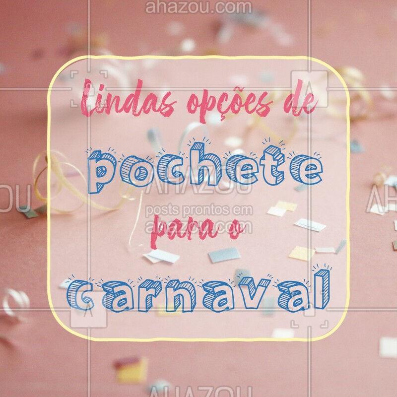 Tem acessório mais prático para o carnaval de rua que pochete? Na nossa loja você encontra várias opções lindas e estilosas!!! Escolha aquela que mais combina com você. #moda #acessórios #ahazoufashion #pochete #carnaval #acessoriosfemininos