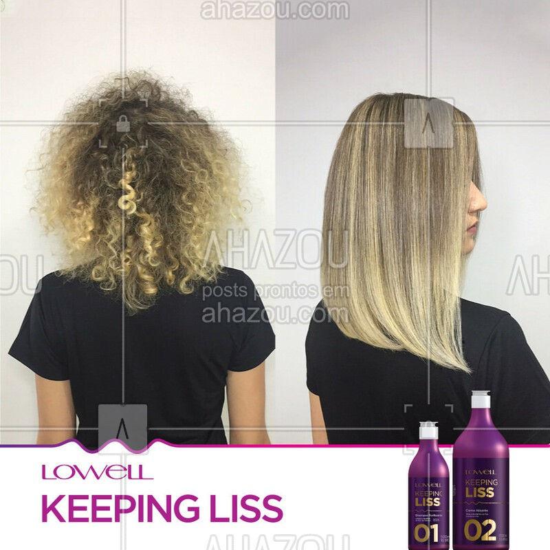 Resultado Surpreendente! Keeping Liss Lowell e Pigmento Matizador Blond! ?  #ResultadoKeepingLiss #ResultadosReais #AhazouLowell #KeepingLissLowell #NovaKeepingLiss #PigmentoBlongKeepingLiss #Lowell #LowellCosméticos #LowellOficial