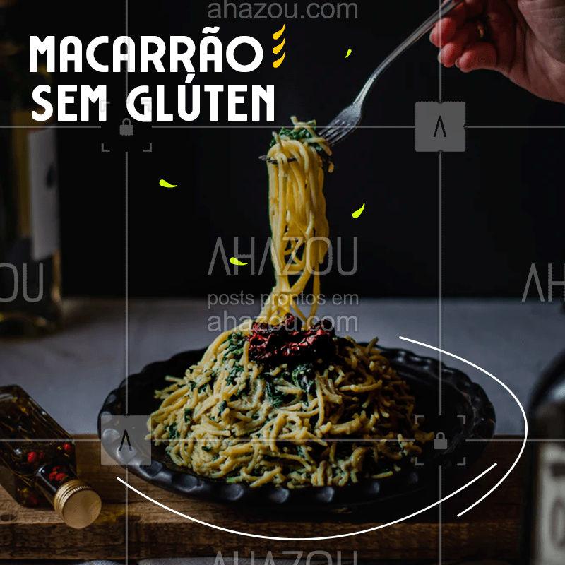 Aqui intolerante a glúten e quem quer manter a dieta pode comer sem medo, um prato de macarrão delicioso. ? #comidaitaliana #pasta #macarrão #semglúten #ahazoutaste