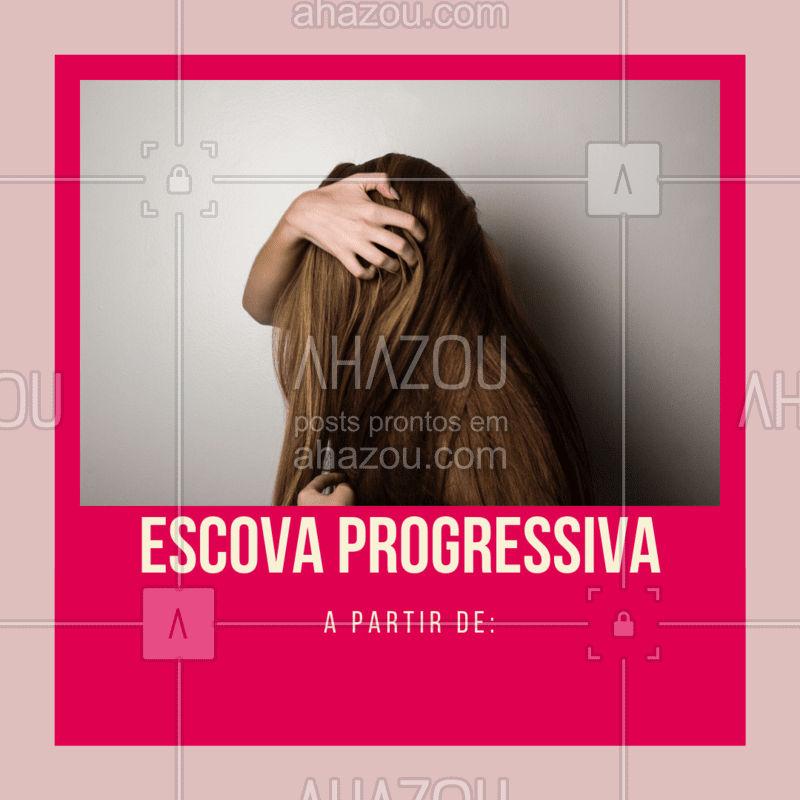 Confira nossos preços e agende seu horário! #escovaprogressiva #ahazoucabelo