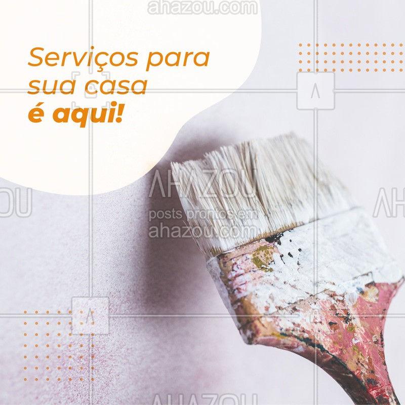 Está precisando repaginar sua casa ou algum conserto de emergência? Entre em contato e faça um orçamento! #AhazouServiços #serviçosgerais