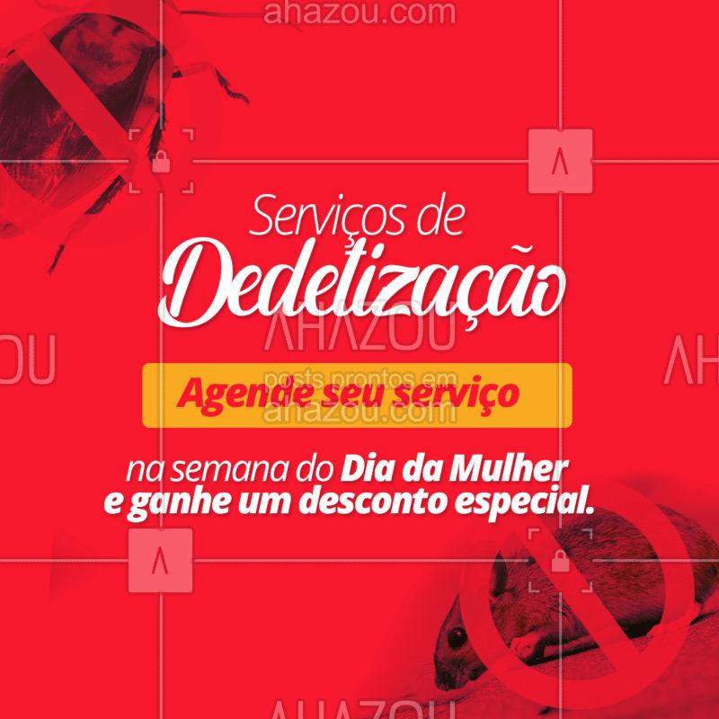 Para você passar o seu dia ao lado da sua família com a casa livre de perigos. ????? #serviçosparacasa #Ahazou #dedetizaçao #livredepragas #semanadamulher #diadamulher #desconto