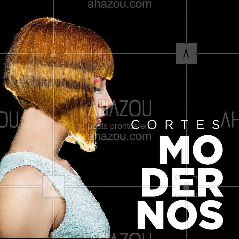 Cortes diferentes, pensados para combinar com o seu estilo. Venha fazer o seu! #corte #ahazou #cabelo