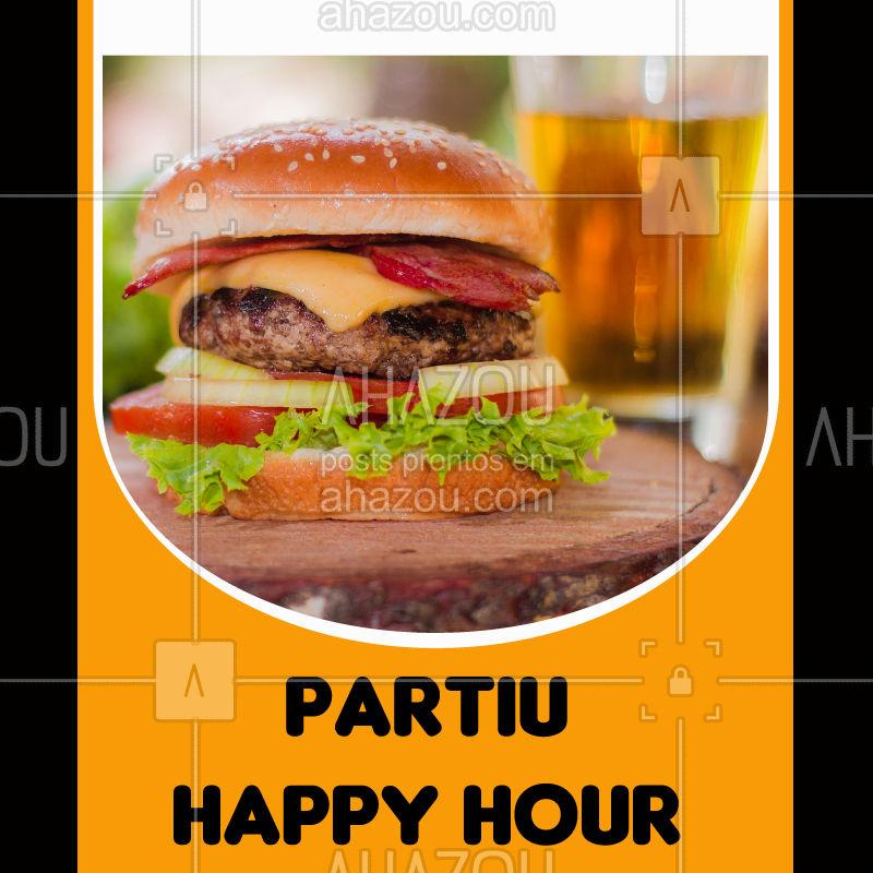 Venha curtir um happy hour regado com muita cerveja artesanal e hamburguer! #alimentacao #ahazou #happyhour #hamburguer