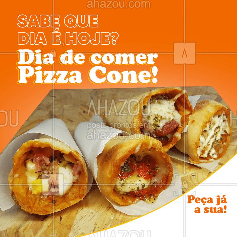 Hoje o dia está perfeito para comer Pizza Cone, você não acha? ? Peça a sua! ?? #PizzaCone #Pizza #ahazoutaste  #pizzaria #pizzalovers