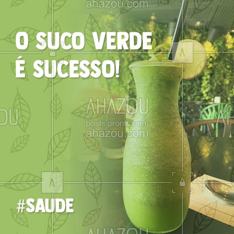 O  suco verde é sem dúvidas a bebida mais presente nas manhãs de muitas famílias. Esse suco totalmente natural feito com frutas, legumes e hortaliças frescas traz enegia e muita saúde para o seu corpo. Compre os melhores ingredientes aqui no nosso hortfruti #ahazou #saude #sucoverde #hortfruti #saudedocorpo