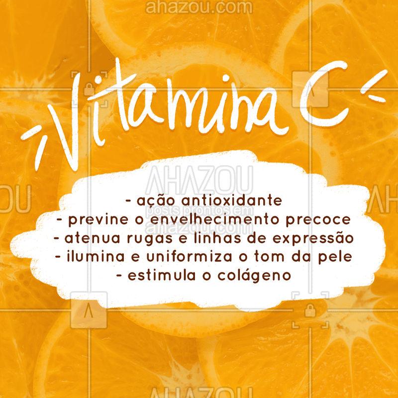 Olha só o poder desse ativo! A vitamina C pode estar presente nos produtos do seu homecare (cuidados em casa) e também em tratamentos estéticos. #vitaminac #ahazou #esteticafacial