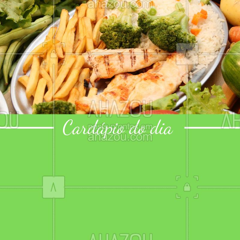 Ainda não sabe onde almoçar hoje? ? Corre para o XXXXXX e desfrute de nossos deliciosos pratos! #restaurante #selfservice #alacarte #ahazou #cardapio
