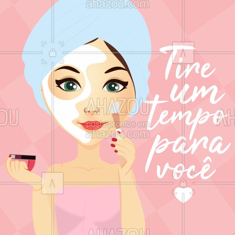 Tire um tempo para se AMAR! ?❤ #esteticafacial #autocuidado #ahazou #inspiracao #motivacional #frase