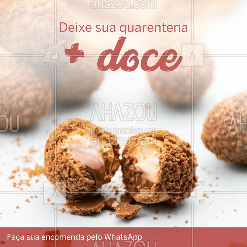 Estamos aceitando encomenda de doces. Faça a sua pelo nosso WhatsApp e levamos até você!  Deixe sua quarentena mais doce ??  #doces #quarentena #ahazoutaste