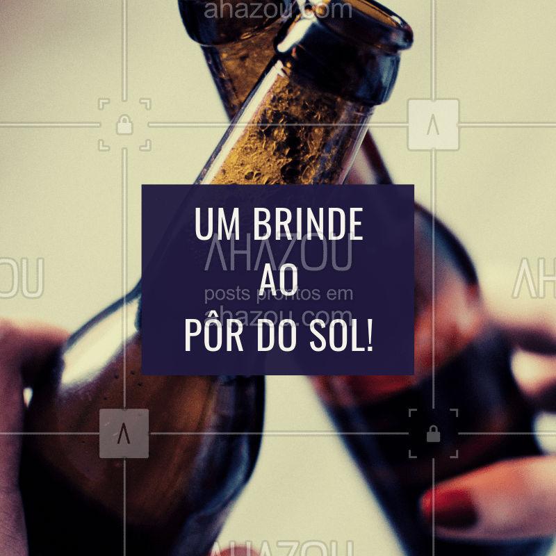Um brinde! Boa tarde... #pordosol #beer #boatarde