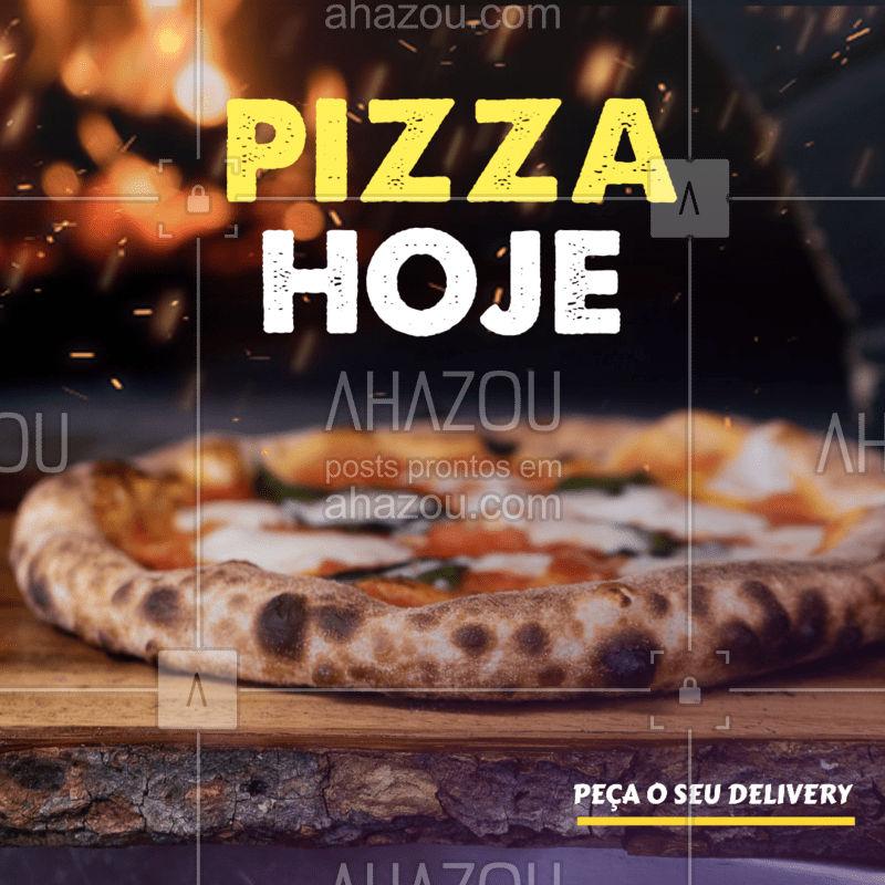 Para você que acordou hoje já pensando em comer aquela pizza deliciosa, então vem com a gente dar uma olhadinha no nosso cardápio e se deparar com inúmeras opções de sabores, uma mais gostosa do que a outra. Não perca mais tempo e peça já a sua pelo nosso delivery! ??  #PIZZAHOJE #PIZZASEMPRE #DUPLOSABOR #AHAZOUTASTE
