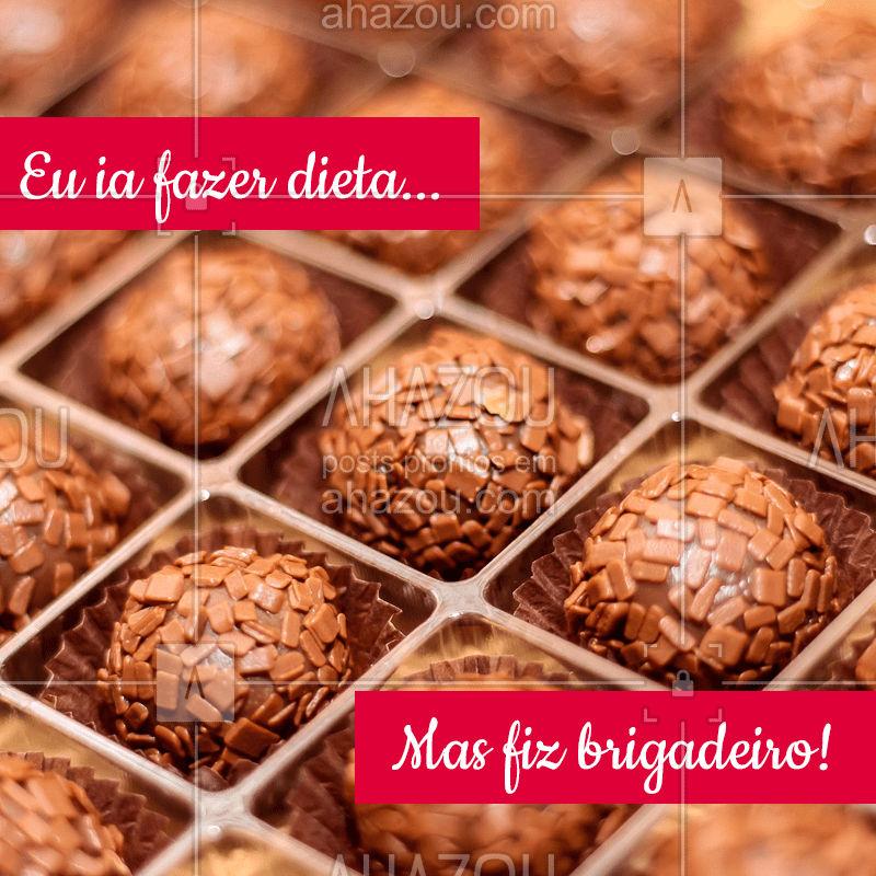 É difícil resistir, né? ? #doces #brigadeiro #ahazou