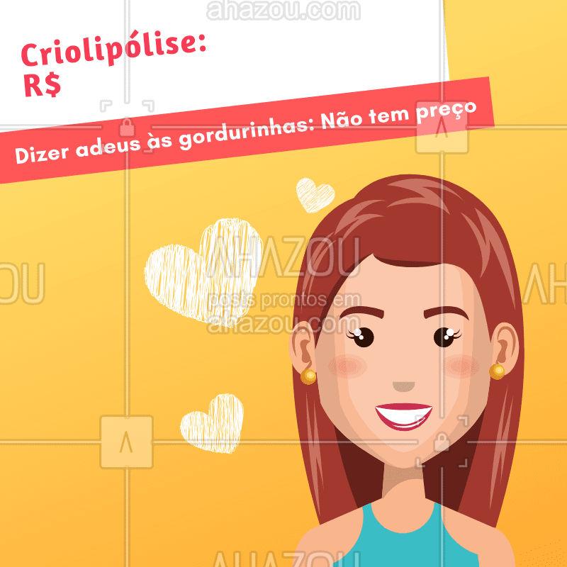 Quem não ama dizer adeus às gorsurinhas? ? #esteticacorporal #ahazou #criolipolise