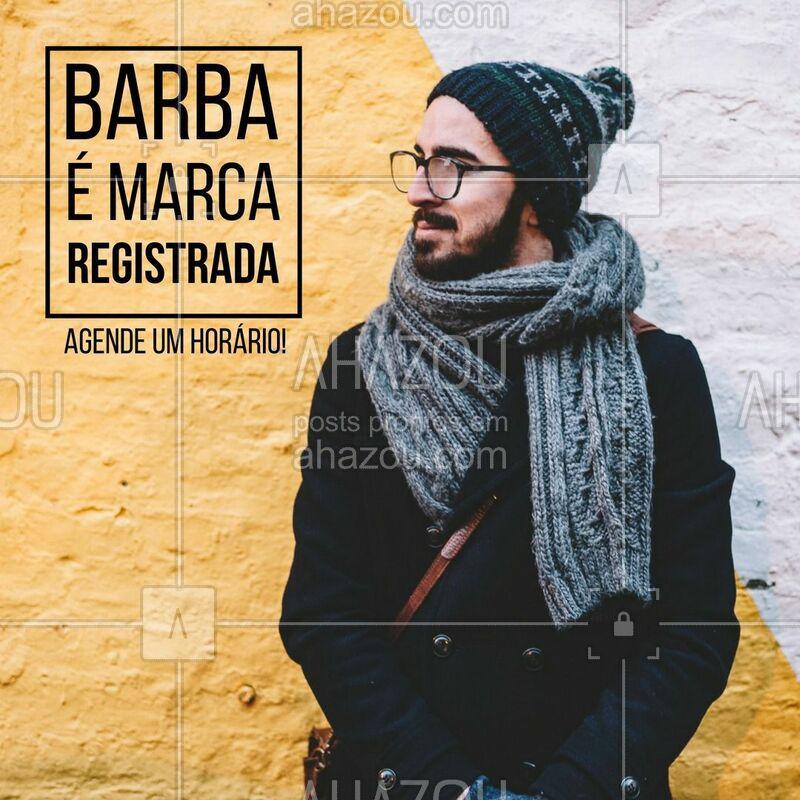 Agende seu horário e vem deixar sua marca registrada em dia! #barba #ahazou #barbearia #marcaregistrada