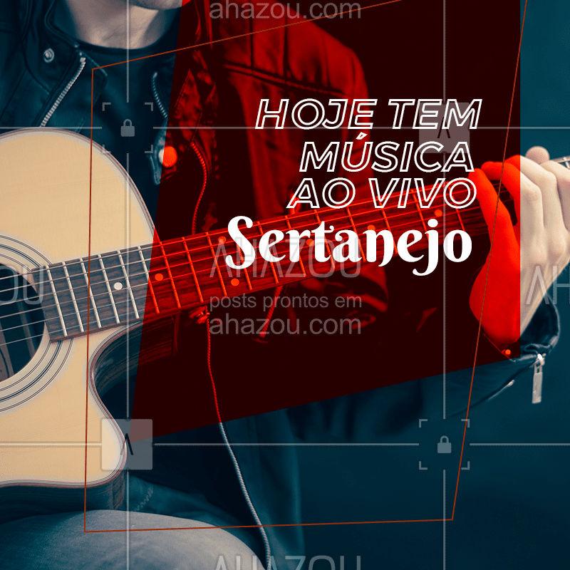 Venha aproveitar para tomar a sua cerveja gelada e ainda curtir uma música de qualidade. Vem, que tem Sertanejo! #ahazou #bar #musica #aovivo #beber #hoje
