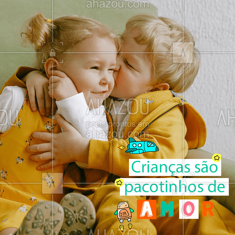 Chegam de repente e conquistam nosso coração para sempre! ? #Crianças #PacotinhosdeAmor #AhazouFashion  #instakids #kidsfashion