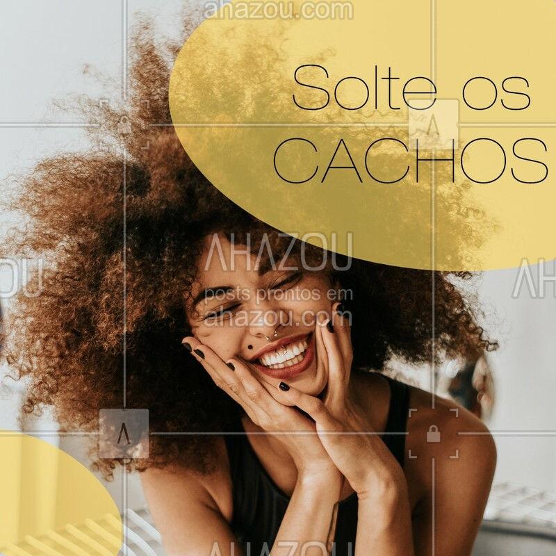Solte a DIVA que mora dentro de você! Solte os cachos e seja feliz! #cachos #afro #ahazou