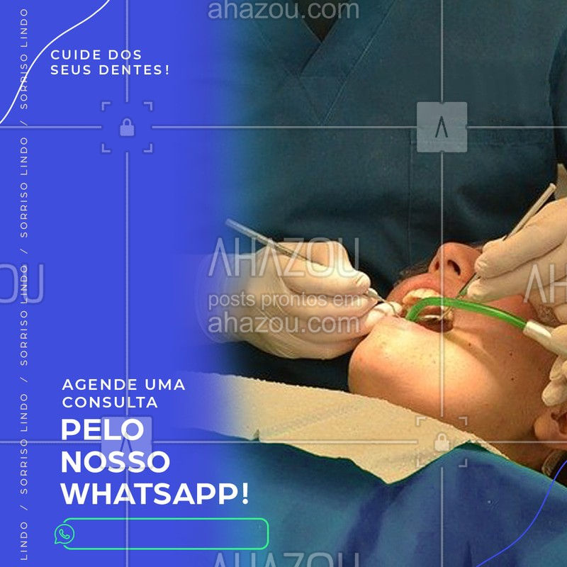 Que tal deixar seus dentes ainda mais lindos? Agende sua consulta pelo nosso whatsapp. #Dentes #Ahazou #Dentista