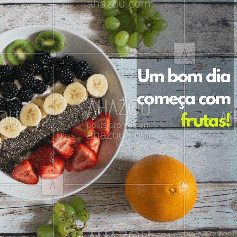 Que tal começar seu dia se deliciando com nossas frutas fresquinhas? Você vai amar! #frutaria #ahazou #fruta #feira