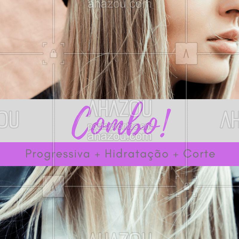 Que tal esse combo promocional incrível? Aproveite! #cabelo #ahazoucabelo #cabeleireiro #promoçao #reconstruçao #corte #escova
