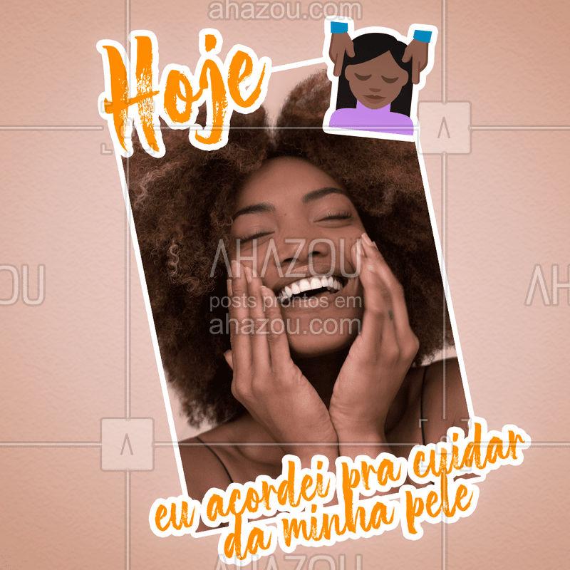 É essa determinação que a gente ADORA!  Agende já o seu horário e vem cuidar da sua pele com todo carinho e amor ?  #esteticafacial #pelesaudavel #ahazou