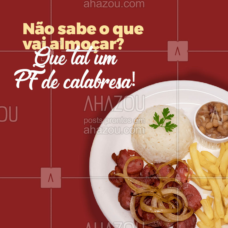 Para variar o cardápio peça um delicioso PF de calabresa! #alacarte #foodlovers #ahazoutaste #selfservice #pratofeito #pfdecalabresa #ahazoutaste