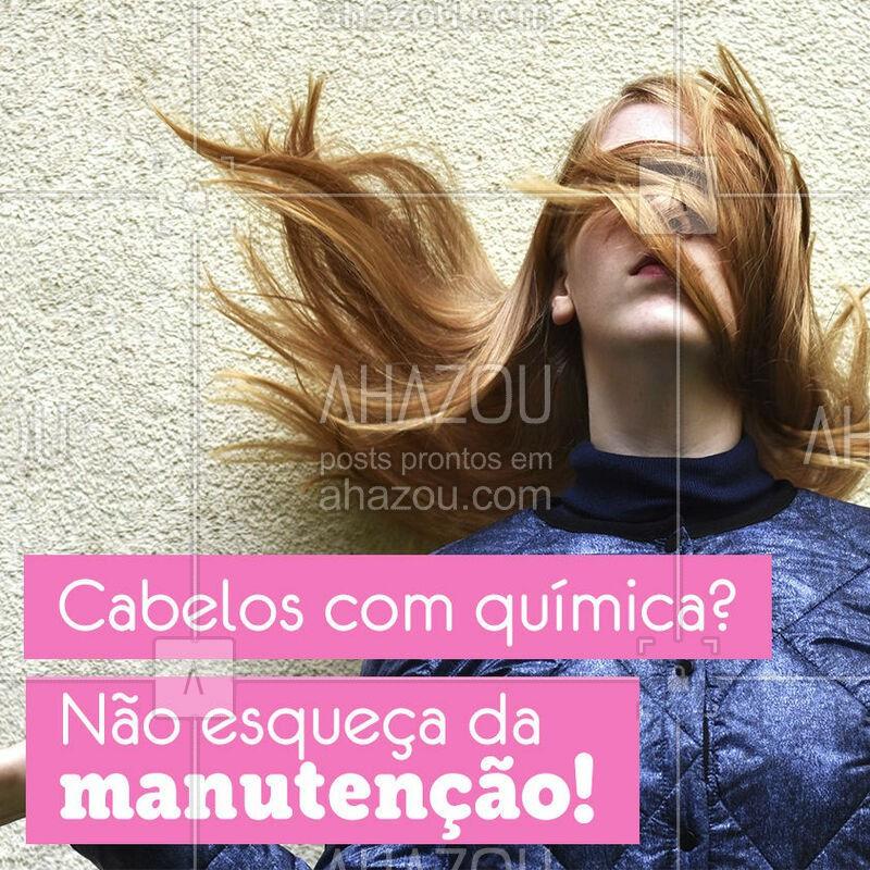 É indispensável fazer a manutenção no salão, além dos cuidados em casa! ? #cabelo #ahazou #cuidadoscomocabelo