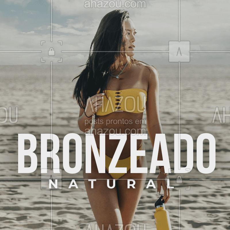 Que tal já chegar com um bronzeado maravilhoso nesse verão? #bronze #ahazou #bandbeauty #bronzeado #verão