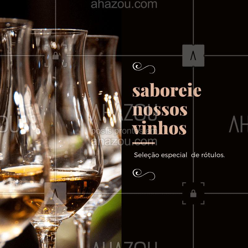 Amante de um bom vinho? Visite nossa casa e descubra nossa variedade de rótulos. ? #vinho #ahazougastronomia #wine #amovinho