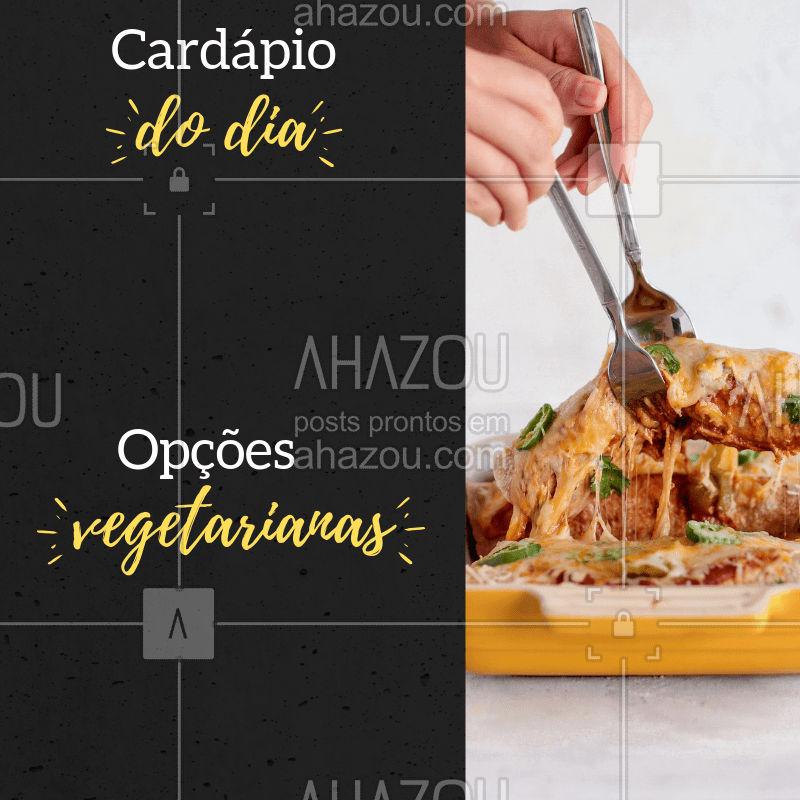 Ainda não sabe onde almoçar hoje? ? Corre para o XXXXXX e desfrute de nossos deliciosos pratos! #restaurante #selfservice #alacarte #ahazou #cardapio #veggie