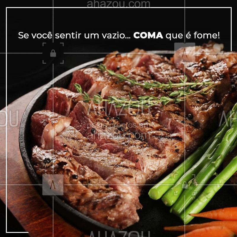 Nós temos a solução para preencher seu vazio. Venha conhecer nossos pratos e se sentir completo! #comida #ahazougastronomia #ahazou #restaurante