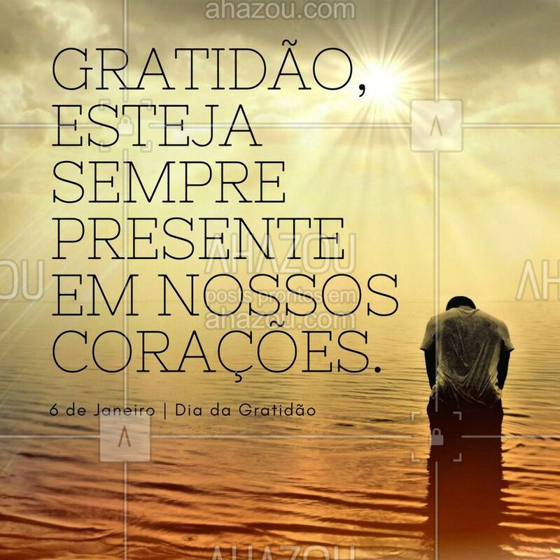 Todo o dia é dia de agradecer! ? #DiadaGratidão #Ahazou #Gratidão #Obrigado #Autoestima
