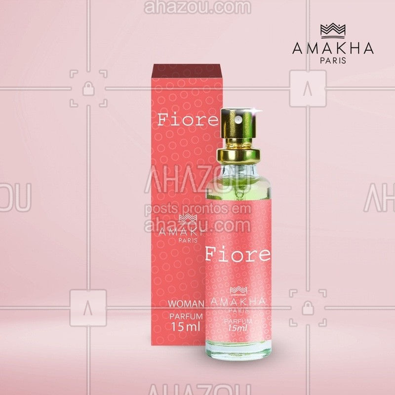 Sinta o agradável perfume floral Fiore. Com notas de cassis, jasmim e sândalo, você se transportará para um lindo campo florido.⠀ ⠀ #perfume⠀ #fragrancia⠀ #amakhaparis
