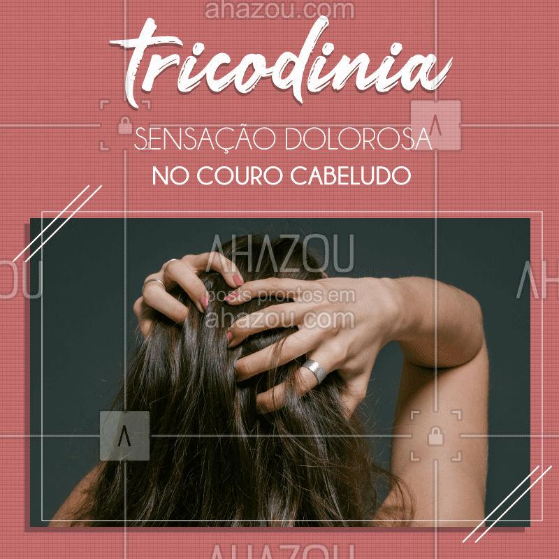 Você já ouviu falar em tricodinia? ? Trata-se de uma sensibilidade acompanhada de dor na região do couro cabeludo, podendo causar formigamento intenso e desconforto. Entre os principais sintomas estão:  - coceira,  - queimação e a sensação de dor. Quando os sintomas aparecem é importante procurar ajuda profissional para identificar a causa e iniciar o tratamento especializado para cada caso! ?♀ #tricodinia #terapiacapilar #AhazouBeauty  #hair #cabelo