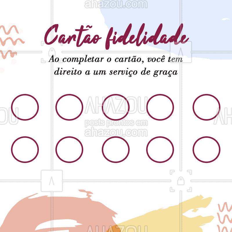Ao completar 10 serviços, o próximo sai de graça! Agende o seu horário e já comece a completar o seu cartão! #esteticafacial #pele #ahazou #cartaofidelidade #promocao