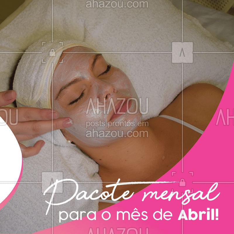 Já pensou pagar menos nos procedimentos que você realizar em Abril? É fácil! Faça o pagamento até o dia XXX e ganhe XXXX de desconto!  #desconto #sale #promo #ahazou #abril #beleza #beauty
