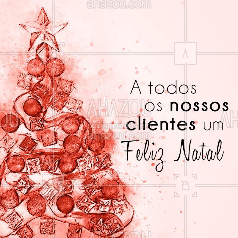 Desejamos a todos um feliz natal! ? #natal #datasespeciais #festas #ahazou #bandbeauty