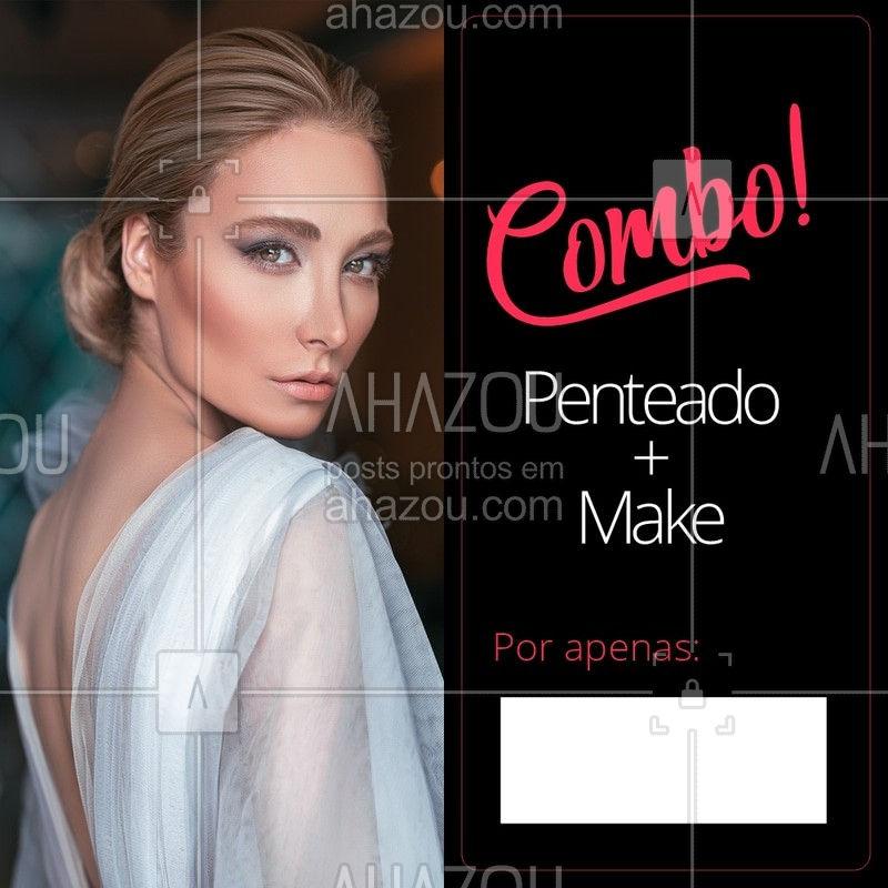 Bora agendar um horário para ficar ainda mais linda? ? #penteado #ahazou #maquiagem