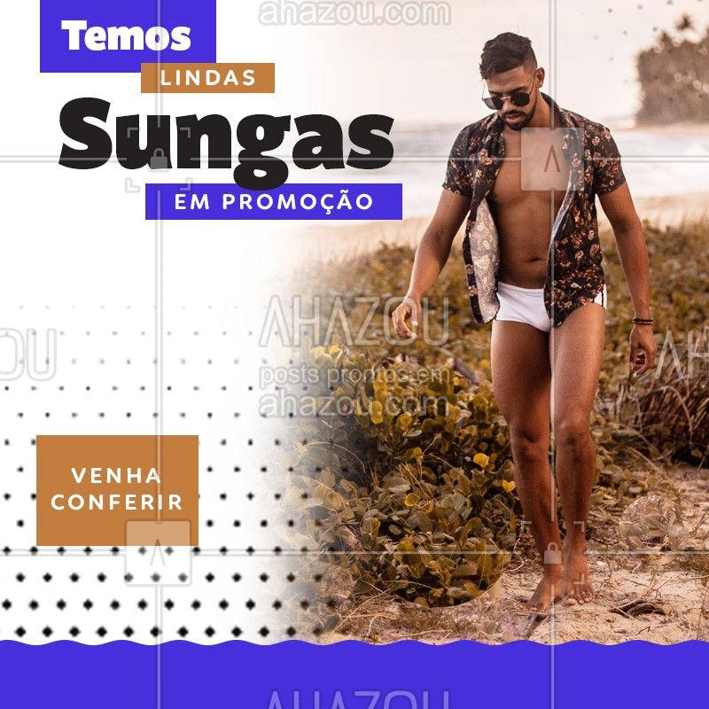 Você não pode perder várias sungas em promoção, venha conferir! Um modelo mais linda que a outra! #Sunga #Ahazou #Promo